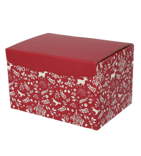 6 Bottles Box Red-White Christmas Design